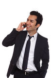 Business man negotiating on phone Stock Photo
