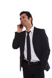 Business man negotiating on phone Stock Photography