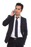 Business man negotiating on phone Stock Photos