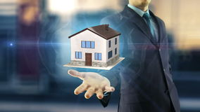 Business man new house concept stock illustration