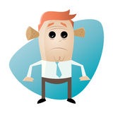 Business man noise protection. Illustration of a business man with noise protection Royalty Free Stock Photography