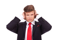 Business man not listening Royalty Free Stock Photo