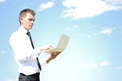 Business man with notebook Stock Photo