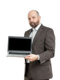Business man notebook Stock Images