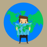 Business man noted business is all over the world. Vector Stock Images