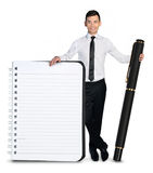 Business man notepad Stock Photo