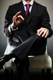 Business Man O.K. Image of a business man giving O.K Royalty Free Stock Photo