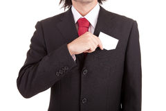 Business man offering card Stock Images