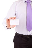 Business man offering card Stock Photo
