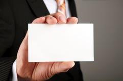 Business man offering card Stock Photos