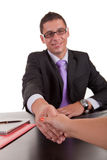 Business man offering handshake Royalty Free Stock Photo