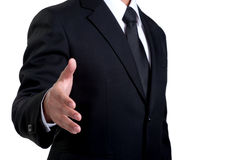 Business man offering  Handshake isolated. Business man offering Handshake in isolated Stock Images