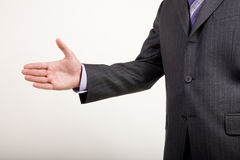 Business Man Offers Handshake Royalty Free Stock Photography