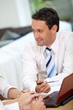 Business man at the office Royalty Free Stock Photo