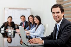Business man at the office Royalty Free Stock Image