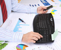 Business man at office Royalty Free Stock Photo