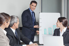 Business man in a office Royalty Free Stock Image