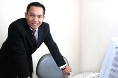 Business man in office Stock Photos