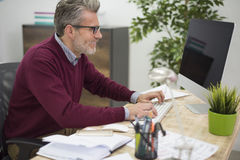 Business man in the office Royalty Free Stock Images