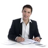 Business man at office desk Royalty Free Stock Images