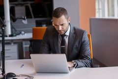 Business man at the office Royalty Free Stock Photos