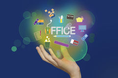 Business man and Office Icon Royalty Free Stock Images