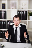 Business man in the office Royalty Free Stock Photography
