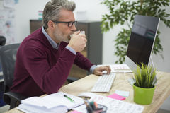 Business man in the office Royalty Free Stock Photo