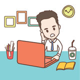 Business man and office worker. Vector set of cute characters businessman and office worker  , illustration Stock Photos