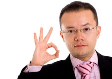 Business man - ok sign Royalty Free Stock Photos