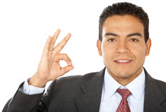 Business man - ok sign Stock Photography