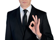 Business man ok sign Royalty Free Stock Photo