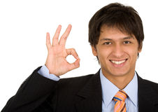 Business man - okay sign Royalty Free Stock Photography