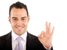 Business man - okay sign Royalty Free Stock Photo
