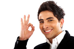 Business man - okay sign Stock Photo