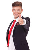 Business man okay sign Royalty Free Stock Photography