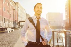 Free Business Man On The Way Home Stock Photography - 107281662