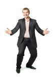 Business man with open arms Royalty Free Stock Images