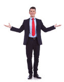 Business man with open arms Stock Image
