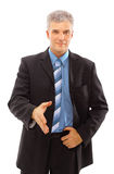 Business man with an open hand Royalty Free Stock Image