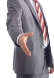 Business man with an open hand Royalty Free Stock Photos