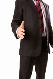 A business man with an open hand. A business man with an  open hand Royalty Free Stock Photo