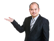 Business man open hand Stock Image