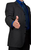 A business man with an open hand ready Stock Photo