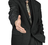 Business man with an open hand ready to seal a dea Royalty Free Stock Images