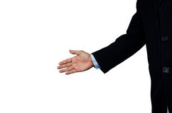 A business man with an open hand Stock Images