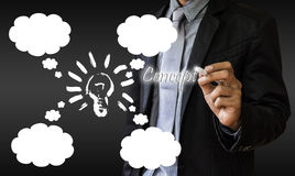 Business man. Operational plans and creative ideas Royalty Free Stock Photo