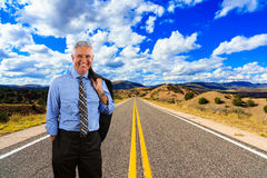 Business Man Outdoors Royalty Free Stock Photography