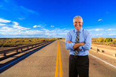Business Man Outdoors Royalty Free Stock Photos