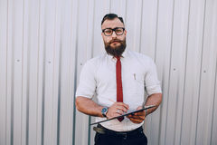 Business man outside Royalty Free Stock Photo